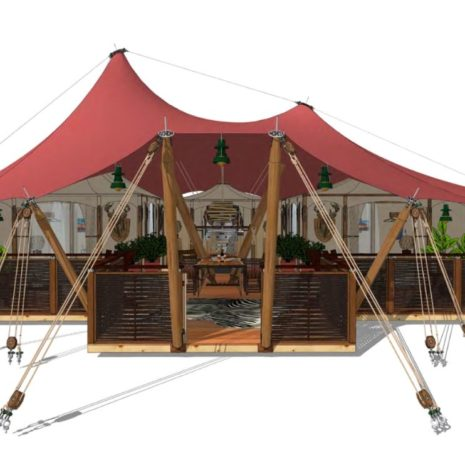 Gotland; Unique and adventurous glamping tent