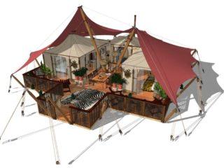 Gotland; impressive glamping tent