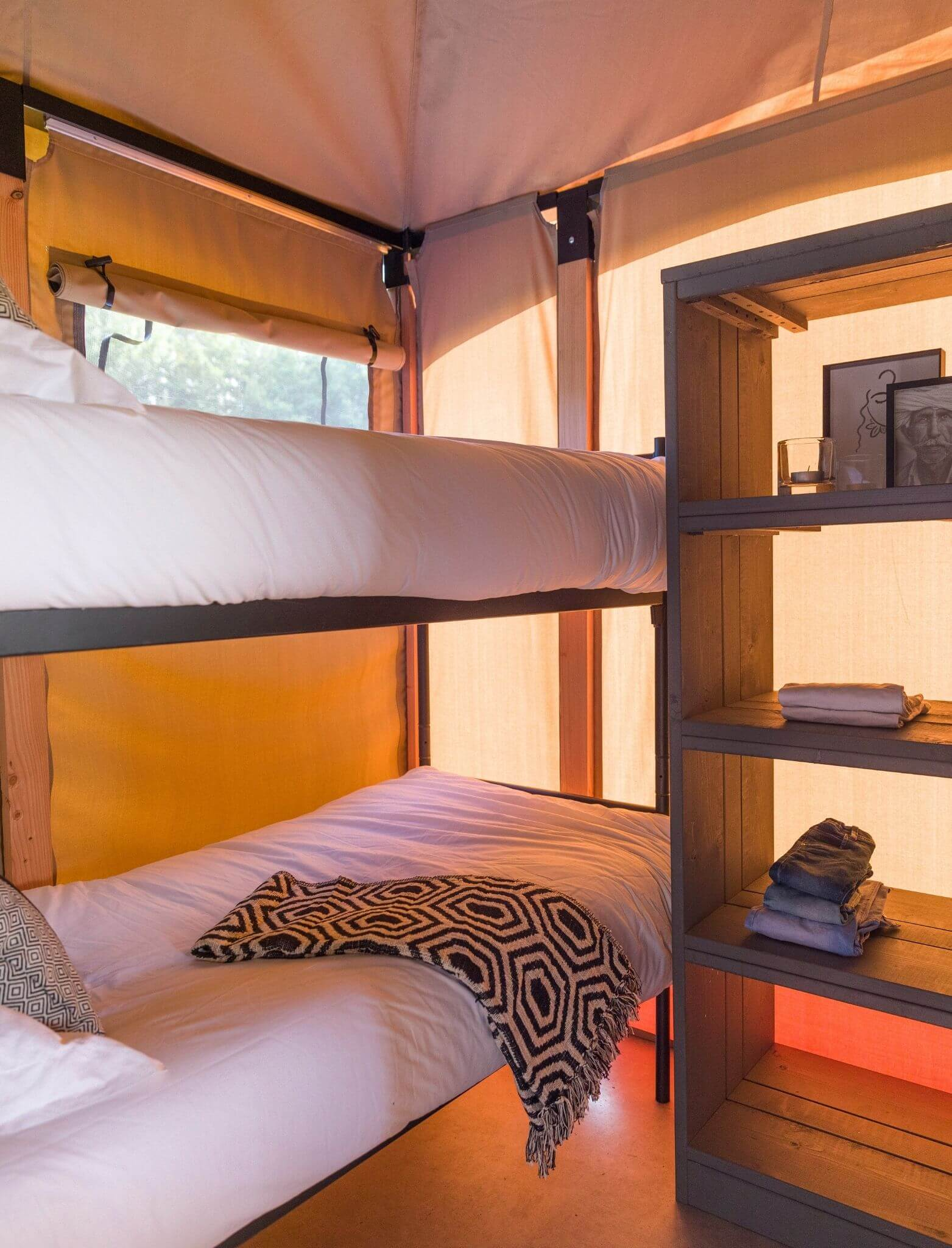 YALA_safari_tent_bedroom with bunkbed_interior_Pure