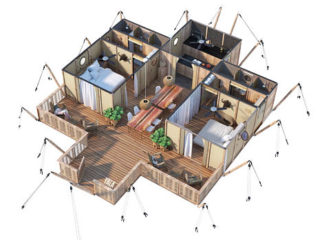 YALA_Aurora_3D_floorplan - Safari tents and glamping lodges