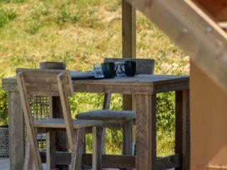 YALA_Shimmer_at_campsite_diningtable - Safari tents and glamping lodges