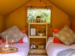 YALA_Sparkle_interior_front_view_landscape - Safari tents and glamping lodges