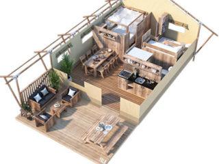 YALA_Sunshine38_3D_floorplan - Safari tents and glamping lodges