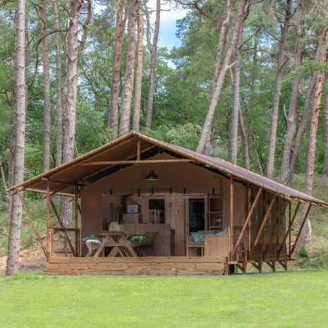 CountryLodge exterieur in het bos