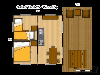 Tente Safari Woody 25