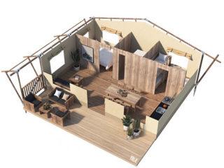 YALA_Stardust_3D_floorplan - tienda de safari glamping