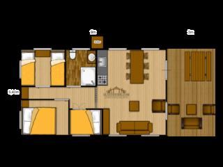 Woody 49 floorplan