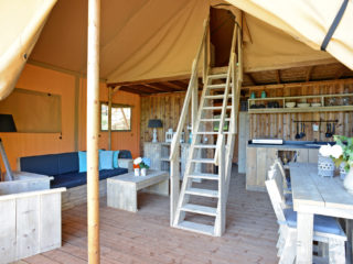 Glamping Lodge interior