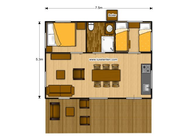 Luxury Suite floorplan