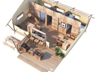 YALA_Dreamer40_3D_floorplan - サファリテント & グランピングロッジ